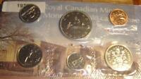 1975 Canada PL RCM Set (6 Coins UNC.)