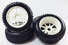 NIB medium block WS Pre-Mounted 1/8 Buggy Tires Glued