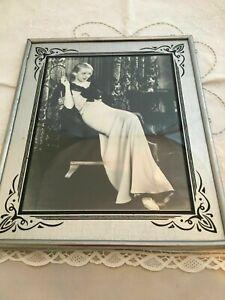 "Vintage art deco picture frame measures 10"" x 12"" with Photo of Bette Davis"