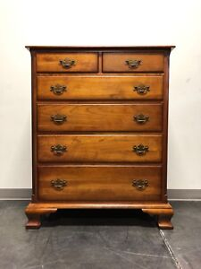 Solid Cherry Chippendale Chest w/ Fluted Columns by Cherry Hill Collection