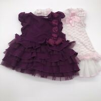 2 baby girl bundle dress Size 12 Month