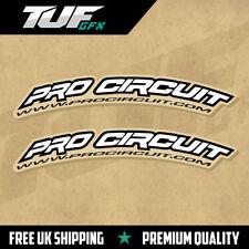 Pro Circuit courbe Fender decals Motocross Graphics Ktm YZF RMZ KXF Blanc