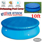 US 10ft Round Above Ground Swimming Pool Cover Tarp Easy Fast Set Rope For Intex