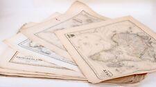 Konvolut 24 antike Landkarten aus Meyer's Zeitungs-Atlas 1849/1850