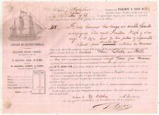 1846 France Paquebot dispatch note Bordeaux Wine to Le Havre