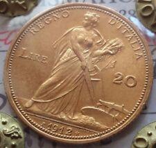 Regno d'Italia  20 LIRE 1912 ARATRICE V.E.III rr periziata