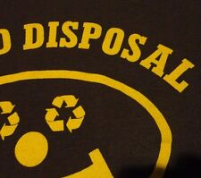 DISPOSAL COMPANY EMPLOYEE Garbage Recycle Trash HAPPY FACE T Shirt size Medium