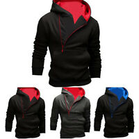 Men's Winter Hoodie Warm Hooded Sweatshirt Jacket Outwear Sweater Slim Tops Coat