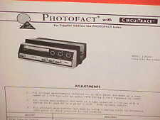 1974 RCA CAR STEREO CASSETTE TAPE PLAYER/RECORDER SERVICE MANUAL MODEL 12R200