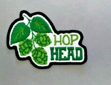HOP HEAD PATCH BREWMASTER BEER BADGE QUALITY EMBROIDERY IRON ON TO SEW ON PATCH