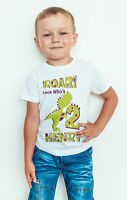 kid's dinosaur birthday T shirt or baby bodysuit childrens/baby/toddler