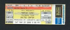 2000 Mariah Carey unused full concert ticket Rainbow Tour United Center Chicago