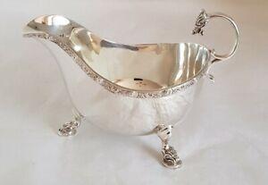 Antique sterling silver sauce / gravy boat. Birmingham 1950.By Adie Brothers Ltd