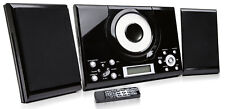 CD Player GTMC-101 Black Micro Stereo Hi Fi System Aux In Clock Alarm FM Radio