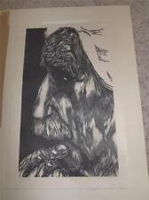 "Original MERVIN JULES Woodcut ""EINSTEIN"" Pencil Signed PROOF Rare Vintage!!!"