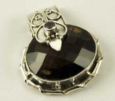 Ovale Echtschmuck-Halsketten & -Anhänger mit Rauchquarz-Hauptstein für Damen