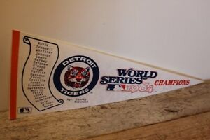 OFFICIAL DETROIT TIGERS WORLD SERIES 1984 CHAMPIONS full size baseball pennant