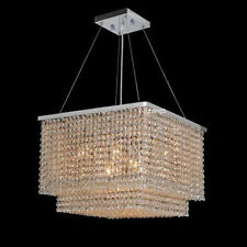 """W20"""" Modern Square Contemporary Crystal Chandelier Light Lamp Lighting Fixture"""