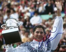 Monica Seles HOF Tennis Signed Auto 8x10 PHOTO Beckett BAS COA