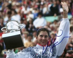 Monica Seles HOF Tennis Signed Auto 8x10 PHOTO Beckett BAS COA