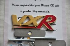 24K Gold Plated Vauxhall VXR Badge Grill Corsa Astra Vectra Insignia Red Metal