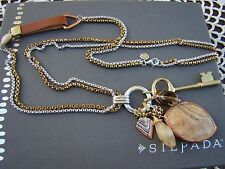 """Silpada S Silver Copper Citrine """"Hold The Key"""" 28"""" Long Necklace  N3340 $149"""