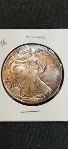 1996  $1 American  Silver  Eagle 'Beautiful Toning' Key Date