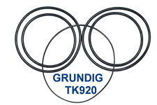 SET BELTS GRUNDIG TK920 REEL TO REEL EXTRA STRONG NEW FACTORY FRESH TK 920