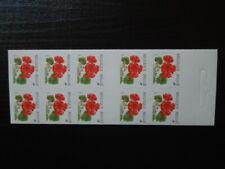 G1281  BELGIUM 1999   BOOKLET  FLOWERS  SELF  ADHESIVE   M/S   MNH