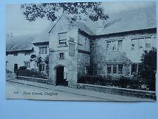 Chapman & Son, Dawlish vintage B&W PC Three Crowns, Chagford, Devon. 1914. Pub.