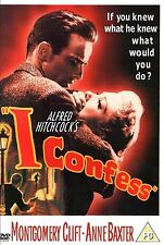 I Confess DVD Montgomery Clift Anne Baxter Alfred Hitchcock UK Rel New Sealed R2