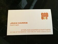 MAD MEN TV Show Original Movie Prop JOAN HARRIS Business Card SC&P