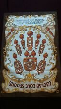 "vintage tea towel ""Welsh love spoons """