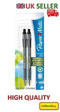 New Flexgrip Paper Mate Retractable Ballpoint Pen Black Colour Ink Pack of 2 -UK