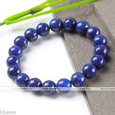 Natural Lapis Lazuli Stone Gemstone Mala Bead Stretchy Bracelet Bangle Prayer