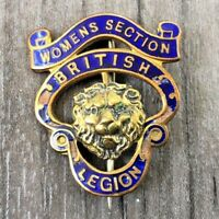 AUTHENTIC VINTAGE BRITISH LEGION WOMENS SECTION NUMBERED PIN BADGE RARE
