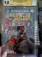 Red Hood and The Outlaws Annual 1 Signed by Tyler Kirkham 2017 CGC SS 9.8