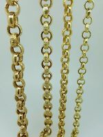 Yellow Gold Solid Heavy 9 ct Belcher Chain- Fully Hallmarked
