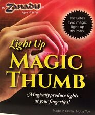 PAIR MAGIC LIGHT UP THUMB TIPS 2 Finger Lite Appearing Magician Bright Red LED D