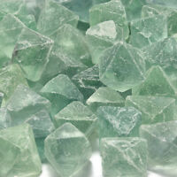 Green 100% Natural Fluorite Quartz Crystal Stone Point Healing Octahedron Wand