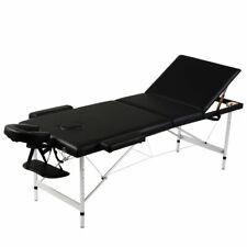 Inklapbare massagetafel 3 zones met aluminium frame (zwart) massage tafel