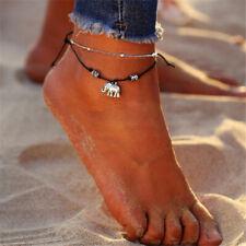 Anklet foot Chain Belly Dance Gift Women Silver Elephant Charm Ankle Bracelet