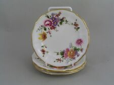 """RARE FOUR ROYAL CROWN DERBY DERBY POSIES 5"""", 12.5 cm SMALL PLATES."""