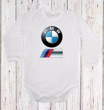 BABY BODY BMW M POWER LOGO  CAR LANGARM/KURZARM WHITE