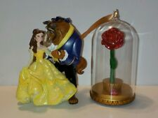 Disney Beauty And The Beast Belle Light Up Rose Christmas Ornament Set Of 2