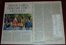 1982 TV ARTICLE~CRAZY HORSE CLOTHES~VIDEO FASHION~PARK AVENUE NEW YORK~
