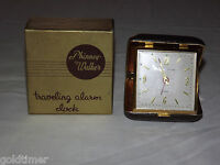 VINTAGE  CO PHINNEY WALKER TRAVELING ALARM CLOCK IN BOX