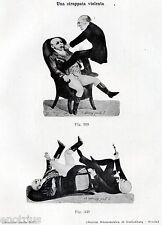 DAL DENTISTA: STRAPPATA VIOLENTA. Caricatura,1800.Dentiste.Dentist.Zahnarzt.1929