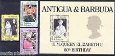 ANTIGUA  & BARBUDA, Y. 905 / 907 + BL 108, QUEEN ELIZABETH BIRTHDAY  MNH **, B55