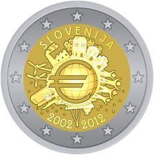 ESLOVENIA 2 E. 2012 TYE - 10 AÑOS DEL EURO